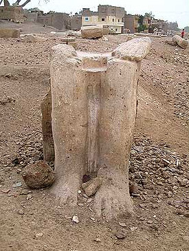 The legs of a colossal Statue of Ramesses II at Hermopolis