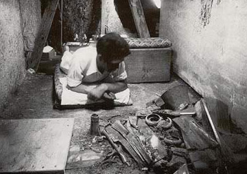 A young Dows Dunham near the end of his work on the tomb of Hetepheres