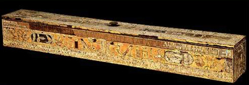A beautifully inscripted wooden box from the shaft of Hetepheres