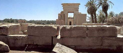 The temple of Amun at Hibbis is approached through a series of gateways