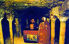 The ancient alter of the Church of Abu Serga
