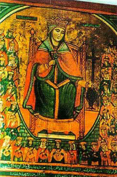 An icon of St. Demiana - Virgin Mary Church - Maadi.