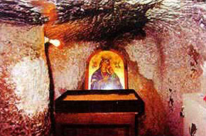 The Crypt of the Virgin Mary Church - Gabal El-Tair, Samalout.