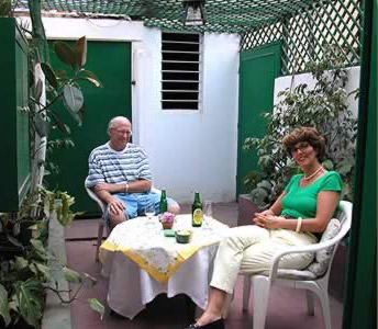 Hebba and I on one of the private room terraces