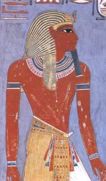 Horemheb, from his tomb in the Valley of the Kings at Thebes (Modern Luxor)