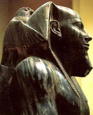 Horus protecting Khafre, one of the grandist artistic works of ancient Egypt
