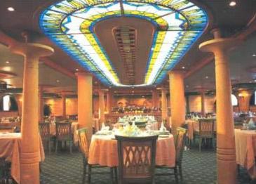 The dining room aboard the Beau Soleil Nile Cruise Boat
