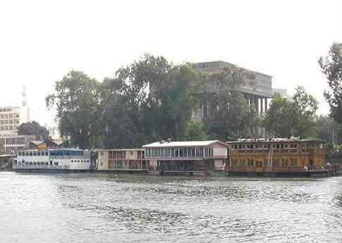 Houseboats on the Nile (Cairo)
