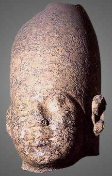 The head of a statue believed by many to be that of Huni