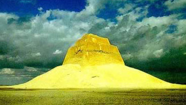 The Maidum Pyramid sometimes ascribed to Huni