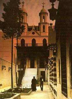 The ancient Hanging Church in Old Cairo