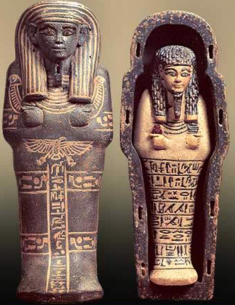 Shabti of Huy with Model Coffin