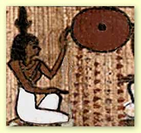 Iabet Greeting Ra (the Sun) from the Book of the Dead of Nes-Ptah