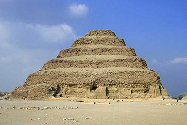 The Pyramid of Djoser at Saqqara in Egypt
