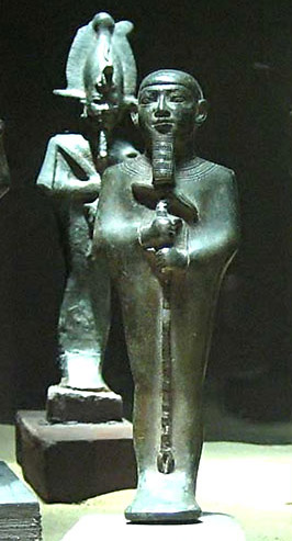 Ptah, with Osiris in Background