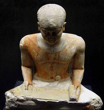 A statue of the Old Kingdom Scribe, Ptah-Shepses