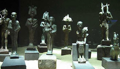 Some of the Bronze Statues discovered by Dr. Hawass