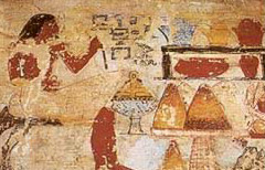 Irukaptah before a table of offerings in his tomb