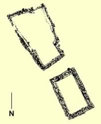 Floorplan of tomb B1-B2 at Abydos belonging to Iry-Hor