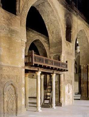 The prayer hall of the Mosque of Ibn Tulun, Cairo, Egypt