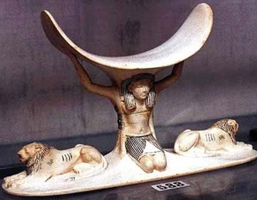 Ivory headrest from the Tomb of Tutankhamun