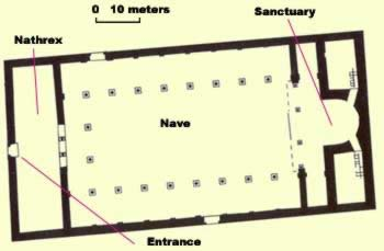 Floor Plan of the main church at St. Jeremiah