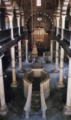 Interior of the Ben Ezra Synagogue