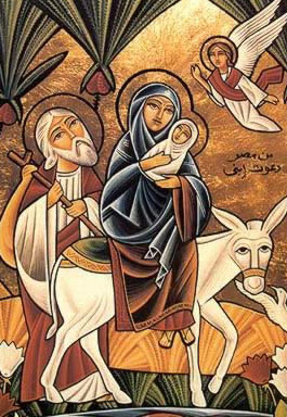 A modern Egyptian icon of the Flight of the Holy Family