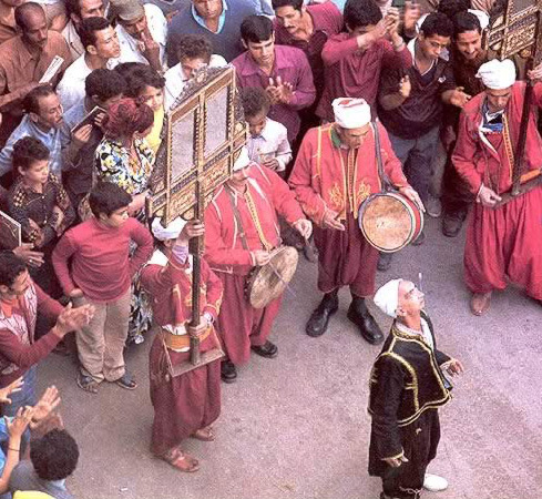 Entertainer at an Egyptian Festival