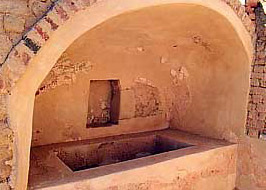 A bath in one of the Wealthier homes of Karanis