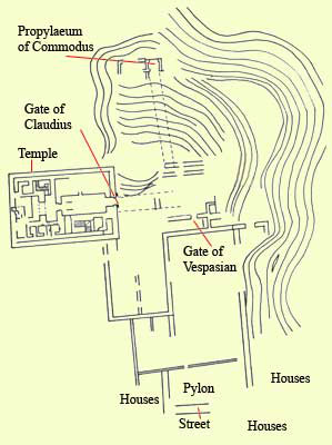 Plan of the southern temple