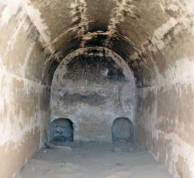 Mummification chamber in the Southern Temple at Karanis