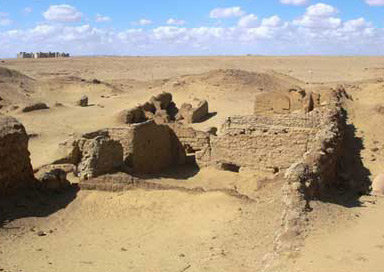 Ruined houses at Karanis