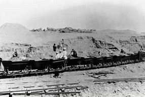 The small railway hauling sibakh