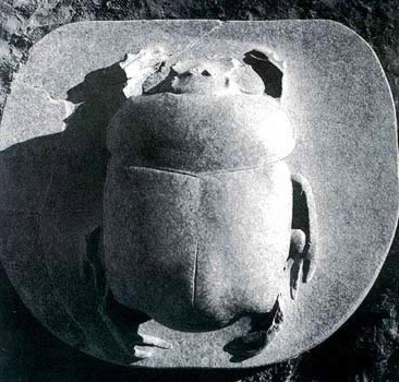 A top view of the Sacred Scarab at Karnak