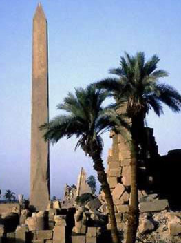 A general view of Hatshepsut's Obelisk and the surrounding area