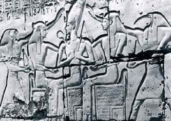 Ramesses II's coronation among gods
