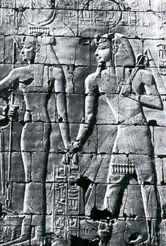 Seti I making the royal ascent towards Amun Re