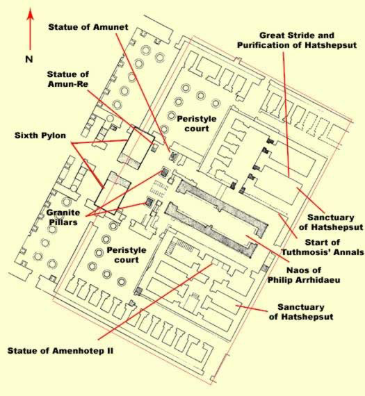 Ground Plan of this section of the Temple of Amun