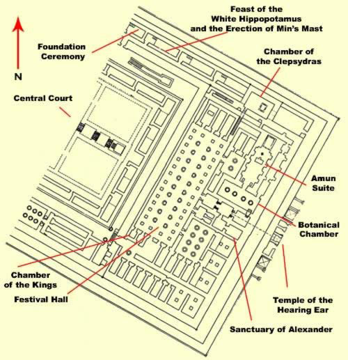Ground Plan of this section of the Temple of Amun at Karnak