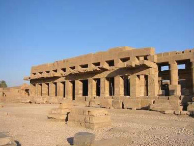 A view of the Festival Hall of Tuthmosis III in the Temple of Amun at Karnak
