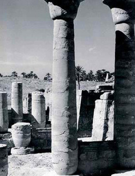 The Colonnade of Taharka at Karnak