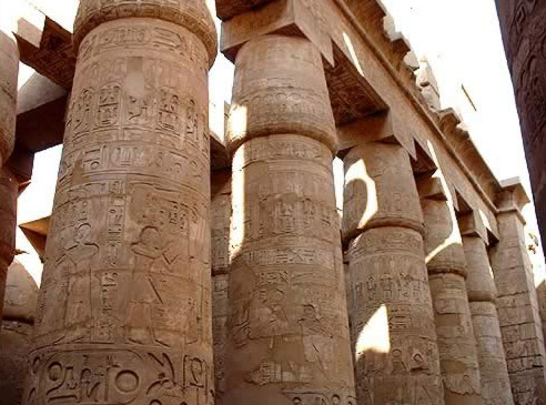 Columns in the Temple of Karnak