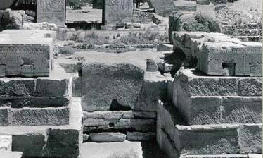 Foundation blocks at the Temple of Montu at Karnak