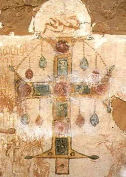 An Example of an ornately painted cross