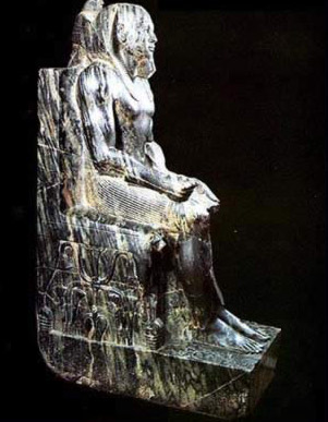 The famous statue of Khafre, one of the finest ever produced in Egypt