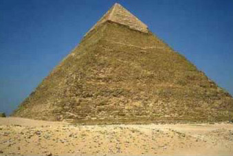 Khafre's Pyramid at Giza, second largest only to his fathe, Khufu's Pyramid