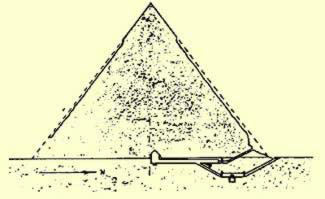 Plan showing the two entrances of the pyramid