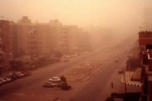 When the Dust Storms Hit Egypt