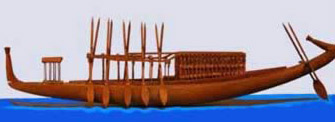 Museum Replica of an ancient Egyptian boat